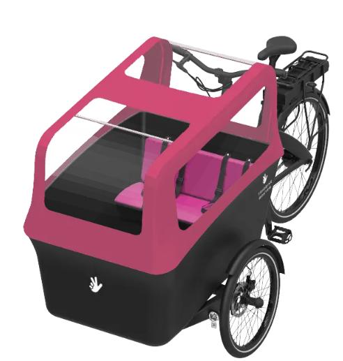 Triobike-Boxter-rosa-2-niños-electrica-bicicleta-beebike